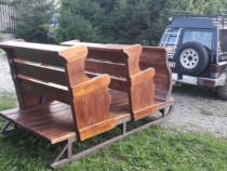 Sanie rustica din lemn trasa de cai sau auto