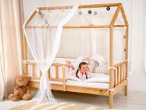 Pat casuta pentru copii /Stil Montessori / Lemn ecologic