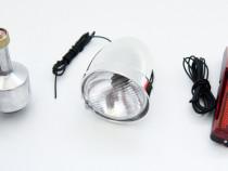 Kit de iluminare pt bicicleta - far, stop si dinam 6 V - Nou