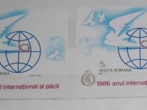 """3 colițe dantelate """"Anul internațional al păcii"""" - 1986"""