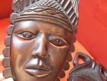 El si Ea-sculpturi africane, lemn esenta tare-cadou deosebit