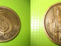 9795-Medalia RSR Orsova 1974-Dierna- bronz masiv stare buna.