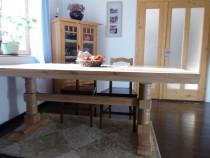 Masa de sufragerie din lemn masiv de stejar