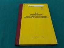 Instrucțiuni pentru cunoașterea și folosirea mijloacelor de