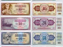 Lot 29 bancnote IUGOSLAVIA 1968-1994 - UNC