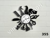 Ceas de perete din vinil - salon de coafura