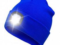 Caciula unisex cu led reincarcabil,albastru, vivo