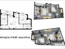 Apartament 2 camere bloc nou Liceul Sportiv george enescu