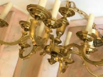 Candelabru bronz aurit 6 brate + 6