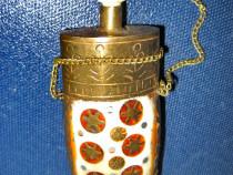Sticla Parfum alama intarsii sidef cu stelute aurii.