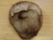 Caciula din blana de vulpe argintie