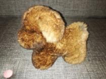 Catel de jucarie, blana naturala de iepure - 17cm