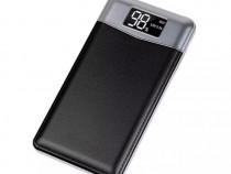 Baterie externa Power Bank 20000mAh cu afișaj LCD