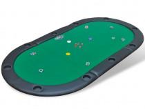 Blat de masă de poker pentru 10 jucători, pliabil
