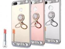 Huse silicon Diamond cu inel Huawei Mate 20 lite / P Smart