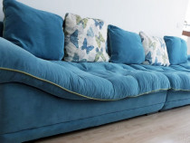 Canapea moderna turcoaz - stare excelenta