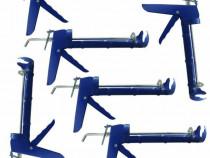 Pachet 6 bucati - Pistol albastru pentru tub de silicon