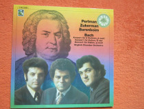 Vinil rar 1-st Ed. Bach-Barenboim/Perlman/Zukerman -impecabi