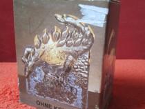Dinozaur-suport lumanare vintage,din sticla -W.Germany-cadou