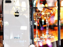 Iphone 8 8 Plus - Husa Magnetica Spate Din Sticla si Rama Me