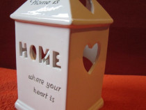 """Home is where your heart is""- portelan,vintage-cadou inedit"