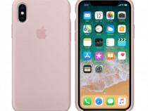 Iphone X XS XR XS MAX Husa Pink Silicon Interior Catifea