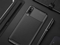 Huawei A40 A50 S10E S10 S10+ Husa Carbon Din Silicon Neagr