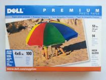 Set 100 coli hartie foto Dell Premium high gloss 4x6 inch
