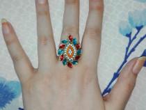 Inel indian(cu pietre colorate)