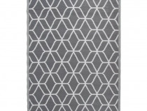 Esschert Design Covor de exterior, gri și alb 421301