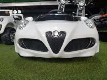 Mașină electrică pentru copii Alfa Romeo 4C Alb Nou