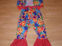 Costum carnaval serbare hippy pentru adulti marime S