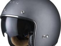 Casca moto deschisa, casca open face chopper, scuter - Black