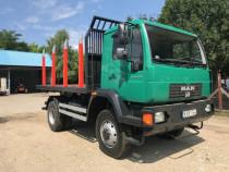 MAN 14.240 transport busteni 4x4 basculare trilaterala