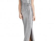 Rochie eleganta argintie Ralph Lauren