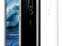 Nokia 5.1 Plus Husa Silicon + Folie Sticla Curbata 11D