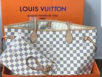 Genți Louis Vuitton piele naturală 100%,model Neverfull