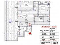 Dezvoltator penthouse 4 camere 98mp+58mp la alb turnisor
