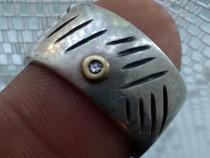 Inel argint cu diamant schimb