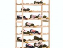 Suport sticle de vin, lemn de cedru, 57,5 x 28 x 102 cm