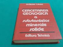 Cercetarea geologică a substanțelor minerale solide/ o. clic