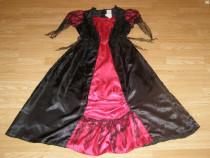 Costum carnaval serbare rochie medievala regina 9-10 ani
