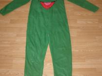Costum carnaval serbare broasca muppets kermit pentru adulti