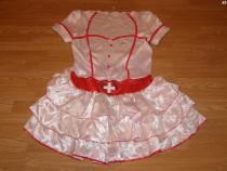 Costum carnaval serbare asistenta doctorita pentru adulti XL