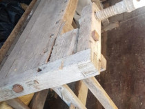 Banc, tejghea de lucru din lemn vechi