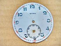 A962-Cadran Cyma portelan vechi ceas buzunar barbat 4.5 cm.