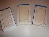 Husa telefon flip wallet book case SONY Z2 high quality alba