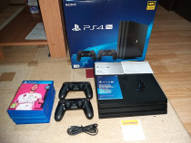 PS4 Pro 1TB cu 2 Controllere + jocuri
