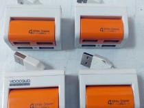 HUB USB Vioacqua White Drawer (alb-portocaliu) 4 x USB