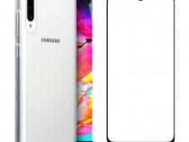 Samsung A10 A20E A40 A50 A70 Husa Silicon + Folie Sticla